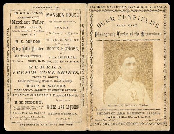 6: 1871 Troy Haymakers Photo Scorecard