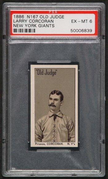 9: 1886 N167 Old Judge Corcoran