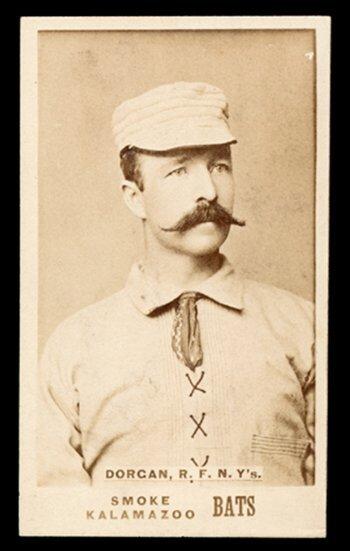10: 1887 N690 Kalamazoo Bats Dorgan, NY's