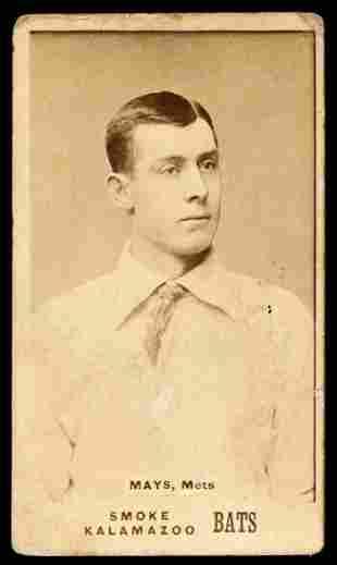 1887 N690 Kalamazoo Bats Mays, Mets