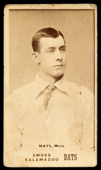 12: 1887 N690 Kalamazoo Bats Mays, Mets