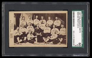 1887 Kalamazoo Bats Detroit Team Card
