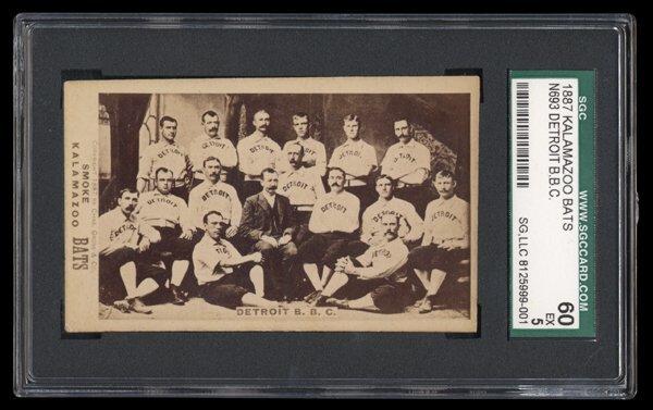 16: 1887 Kalamazoo Bats Detroit Team Card