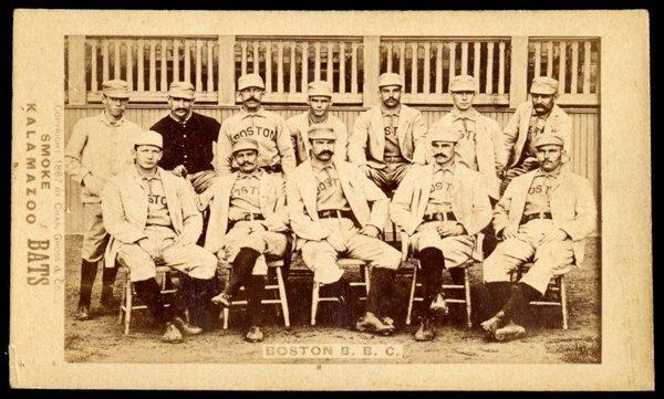 17: 1887 Kalamazoo Bats Boston Team Card