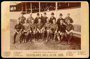 1888 Cleveland Joseph Hall Cabinet