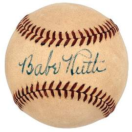 213: Babe Ruth Single Signed Baseball