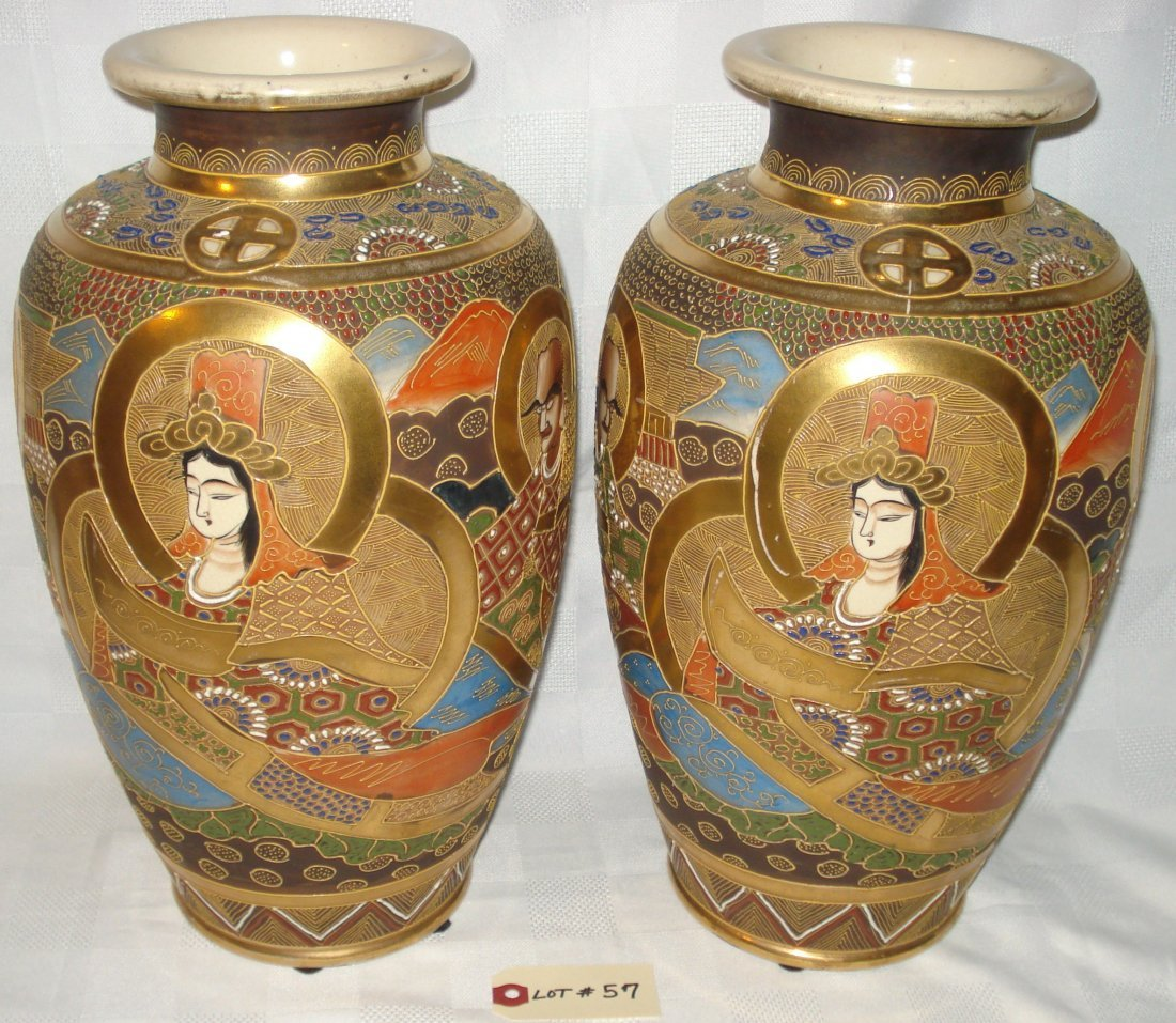 Imperial satsuma vases 1930 pair imperial satsuma vases 1930 reviewsmspy