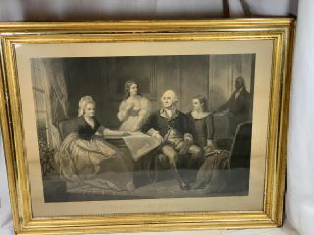 George Washington Family Portrait ( Engraving) This is
