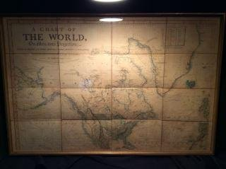 1821 Chart of the World Map This is a mercator's