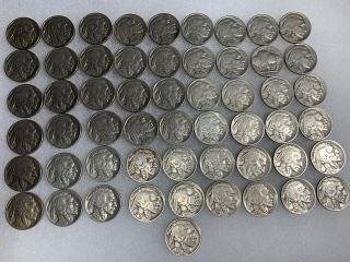 Buffalo Head Nickels (55) This is  a collection of 55