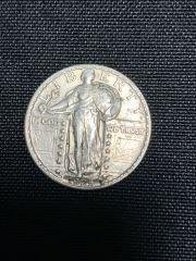 1925 Standing Liberty Quarter Mildly circulated.