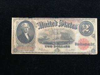 1917  U.S. $2- Large Note-Red Seal #D84441112A_x000D_
