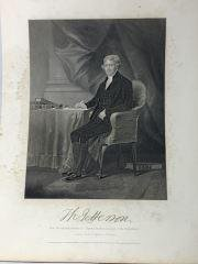 Thomas Jefferson Engraving Copy opf org. painting by
