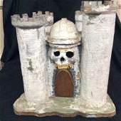 Folk Art Castle Grayskull - Handmade w/ Real Teeth Made