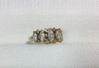 5 Marquise Diamonds in 14kt Yellow Gold Ring Almost