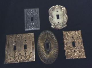 Vintage Light Switch Covers - 5 total .