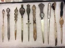 Early Collectible Letter Opener Collection