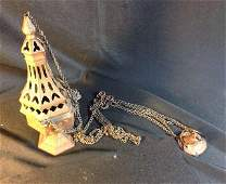 """Thurible - Victorian Chain Incense Burner measures 12"""""""