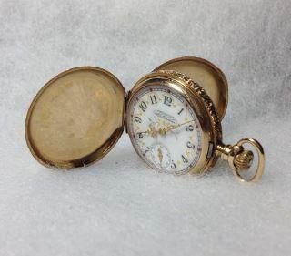 American Waltham 14kt Gold Pocket Watch Warranted ROY