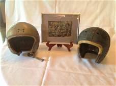 Rawling Size 7 3/8 Early Football Helmet w/ framed