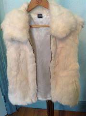 Genuine Rabbit Fur Vest by Saks Fifth Avenue, size