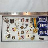 WWI & WWII - Medals & Patches -Military Lot