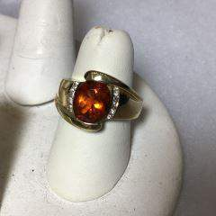 14kt Yellow Gold Ring w/ Large Citrine Gem size 6