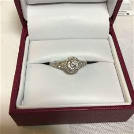 1 1/4 ct. Tw. Diamond Halo Engagement Ring Band is 14kt
