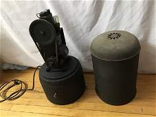 """Early Industrial Portable Air Compressor measures 25"""""""