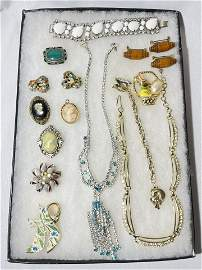 Vintage Costume Jewelry necklaces brackets pins
