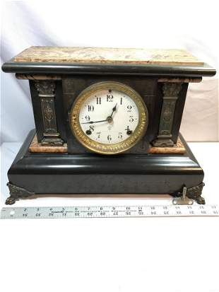 Early Mantle Seth Thomas Clock Co. w weight and key