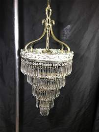 6 tier Chandelier w solid brass Carriage Ornate Ceiling