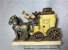 The Mail is Here! Hummel Horse Carriage Hummel