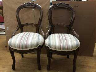 Victorian Open Back Chairs (Set) Hand carved & newly