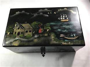 Jewelry Box hand painted Measures 10 x 6 x 4