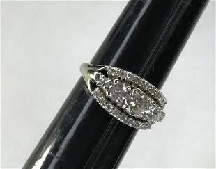 18kt White Gold Diamond Ring 1.5 karat of diamonds