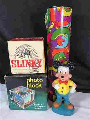 Vintage Toy lot Slinky-original box Photo