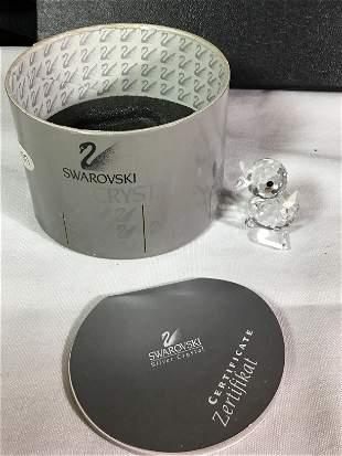 Swarovski Silver Crystal Duckling .