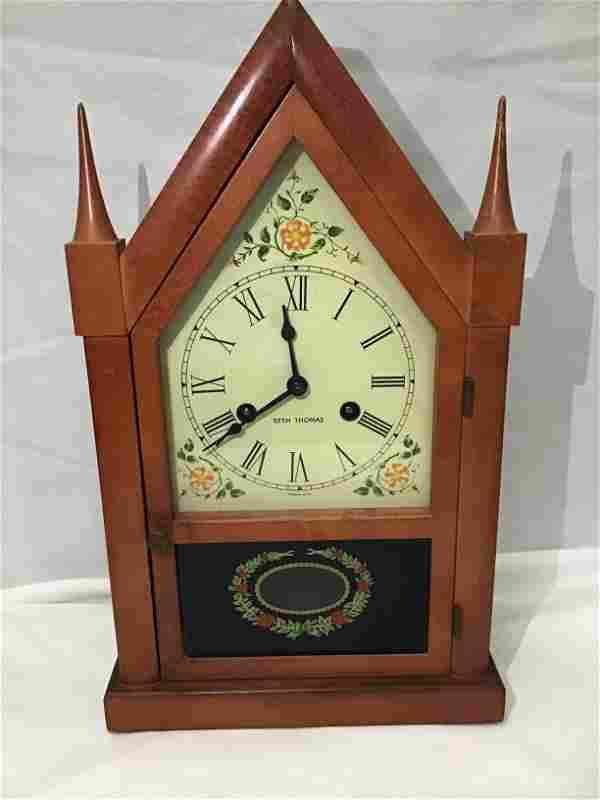 Seth Thomas Mantle Clock With winder key and pendulum