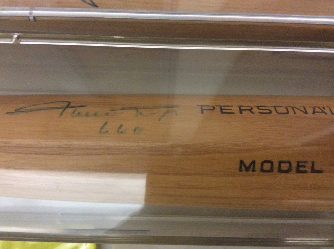 Willie Mays autographed baseball bat with #660