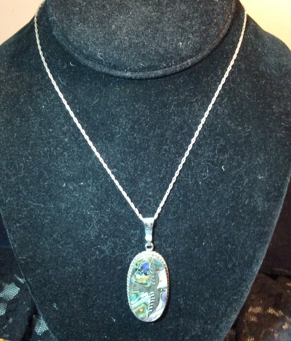 Mexican Sterling chain & Pendant
