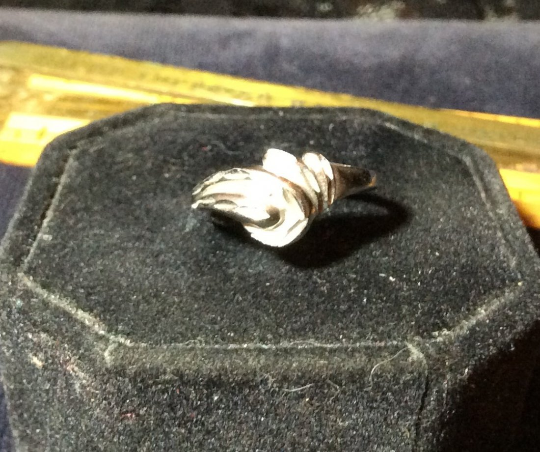 Sterling texture ring
