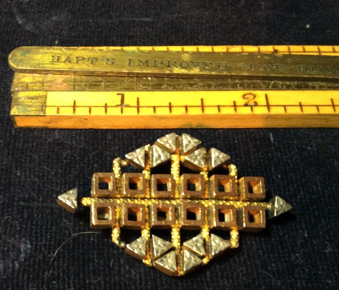 Victorian Brooch Silver & Gold