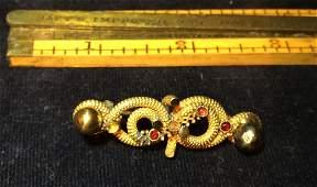 Victorian Brooch w/ Garnets