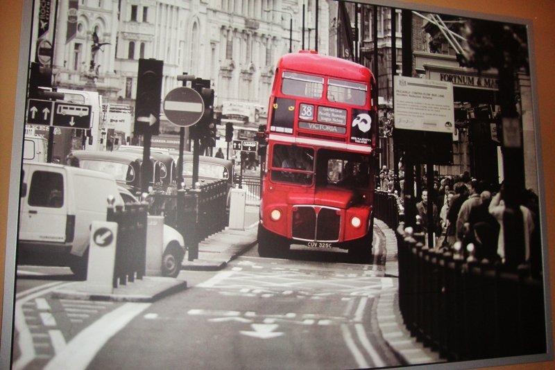 London Bus, Framed Art