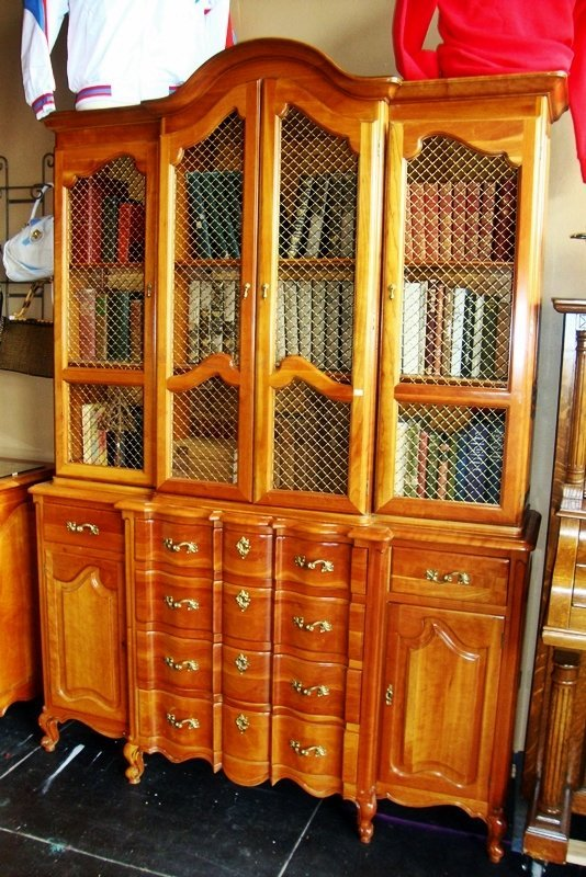 ANTIQUE BOOKCASE, UNION NATIONAL INC. FURNITURE CO