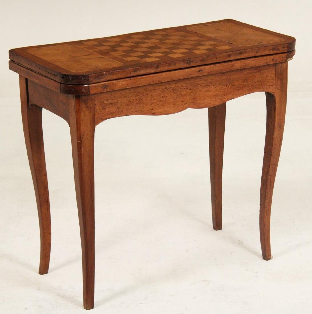 19TH C. PROVINCIAL FRENCH WALNUT GAMES TABLE