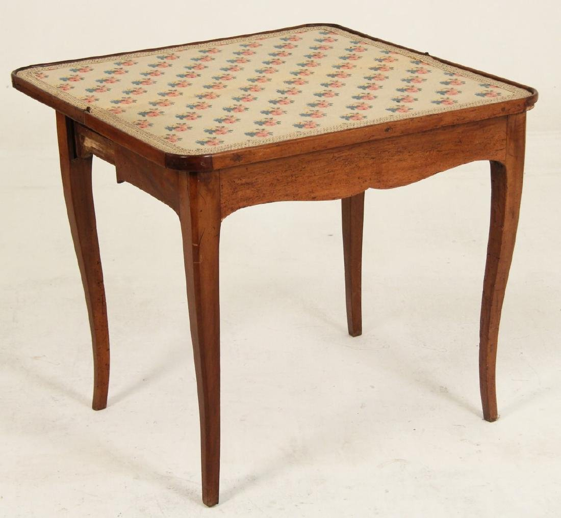 19TH C. PROVINCIAL FRENCH WALNUT GAMES TABLE - 2