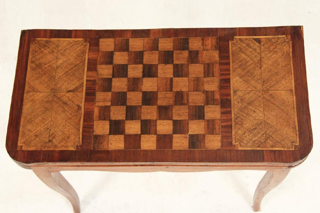 19TH C. PROVINCIAL FRENCH WALNUT GAMES TABLE - 3