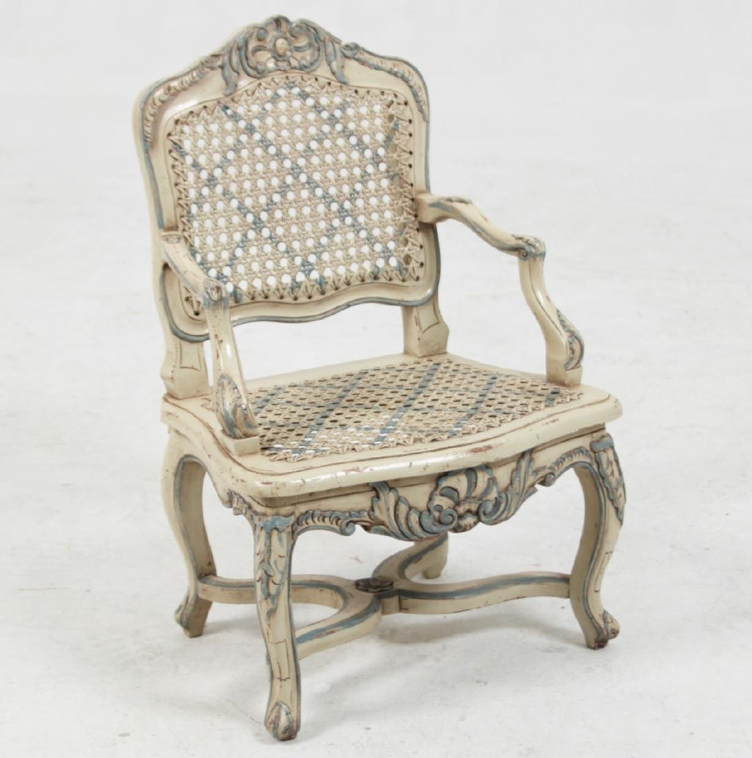 LOUIS XV STYLE PAINTED MINIATURE FAUTEUIL